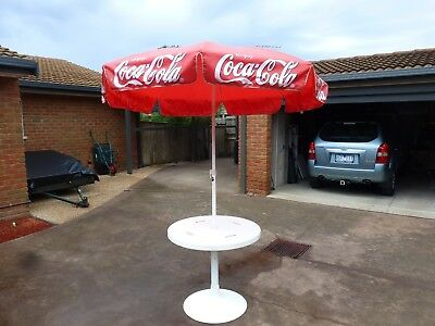 Coca cola umbrella and table