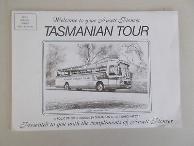 Anset Airways - Anset  Pioneer Tasmanian Tour with Folio six drawings