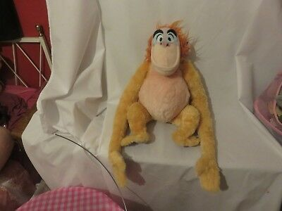 "17"" soft king louie the jungle book disney store exclusive stamp plush doll"