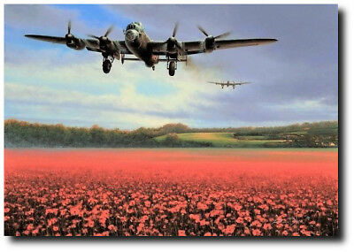 For Freedom by Richard Taylor - Avro Lancaster - Aviation Art Print