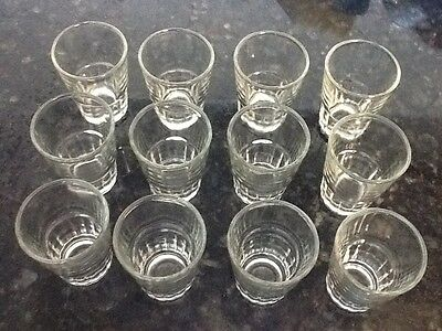 Lot of 12 New Shot Glasses Glass Barware Shots Whiskey Tequila Drink Party Vodka