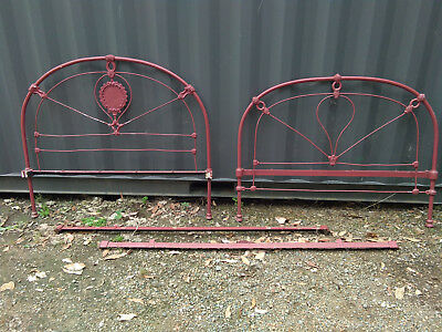 Cast Iron Double Bed head ends & irons