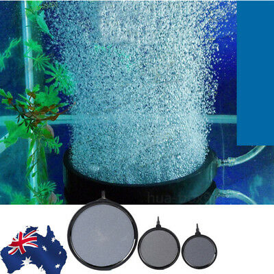 AU!! Aquarium Pond Pump Hydroponics Diffuser Fish Tank Bubble Air Stone Aerator