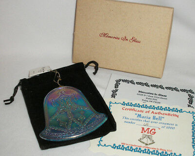 Fenton Glass - Maria Bell Limited Edition Ornament - Memories In Glass - Mib