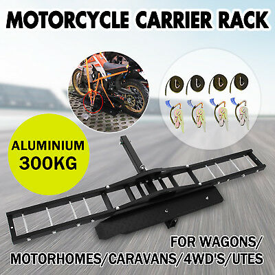 300kg Motorcycle Carrier Hauler Hitch Mount Rack front rear Tow Bar Dirt Bike