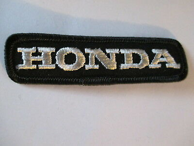 Honda Patch Black with Silver Letters