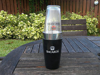 Bacardi Rum - Boston Shaker And Drinking Glass  New Authentic