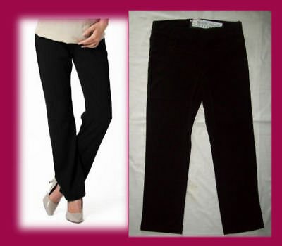 Maternity BLACK TAILORED WORK PANTS - Sz 14 16 18 20 22 24 NINTH MOON Office New