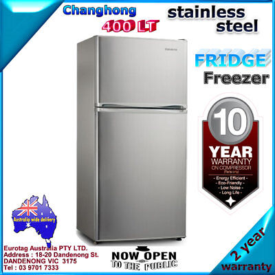 Changhong FTM418A01S 400L Stainless Steel Top Mount Fridge Brand new 2 years w.