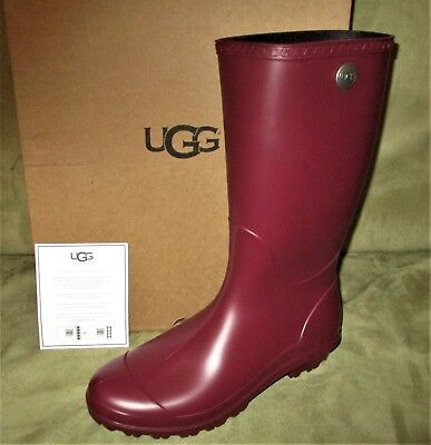 235e29ae34d CHIC!!!!**WOMEN'S UGG TALL RAIN BOOTS IN Burgundy Wine SIZE 9 us ...