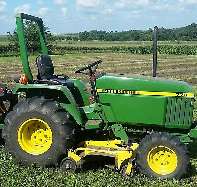 John Deere 770 Compact Utility Tractor With Cab And 2 Stage 59 Snowblower