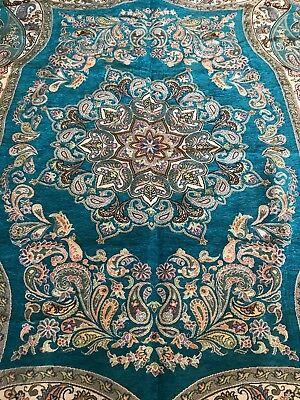 Persian Rug ,Uniqe Machine Made Kilim Rug, Magnificent Turquoise Color kilim Rug