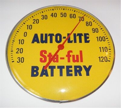 VINTAGE AUTO-LITE STA-FUL BATTERY THERMOMETER, MINT, FROM 1960s GAS STATION