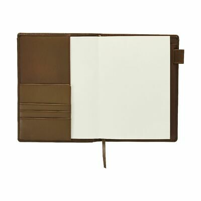 Ampersand A5 Leather Book Cover with Refill 128 Pages Brown