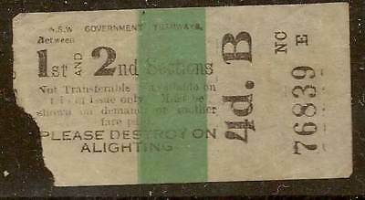 NEWCASTLE NSW 1948 4d TRAM COLOUR TICKET $5