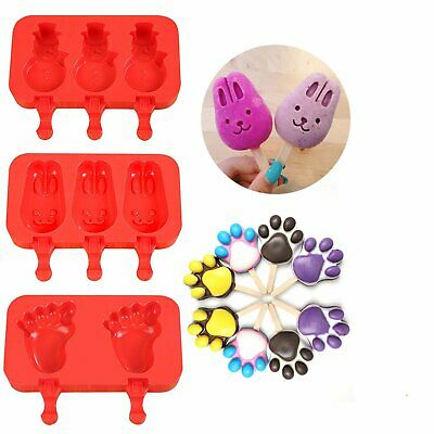 Ice Cream Mold Chocolate Tray Silicone Pop Ice Lolly Maker Popsicle Frozen Mould