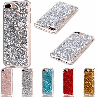 Soft TPU Rubber Bling Glitter Silicone Back Cover Case For Apple iPhone 7 Plus