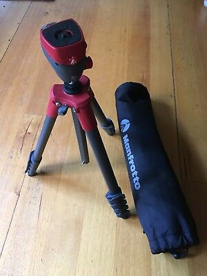Manfrotto Tripod Compact Action + Joystick Head Red