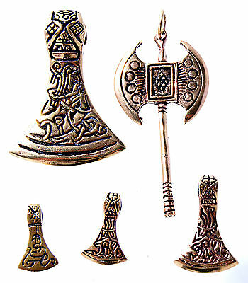 Axe Viking CELTIC BATTLE 5 Models Bronze Band / Necklace Pendant