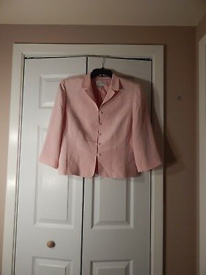 Casual Corner Annex Light Pink Jacket   - Size  - 100% Silk -  Great For Spring