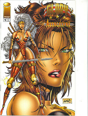 Glory / Avengelyne 1 vfn/nm 1995 white variant cover Image Comics US Comics