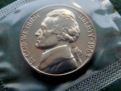 1963 USA Jefferson Nickel Coin  BU Mint  KM# A192  SB2003