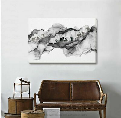 Horse Running On Mountain Stretched Canvas Print Framed Wall Home Office Decor