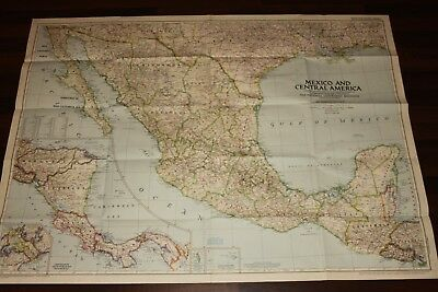 Vintage - NATIONAL GEOGRAPHIC SOCIETY MAPS MAP of MEXICO & CENTRAL AMERICA 1953