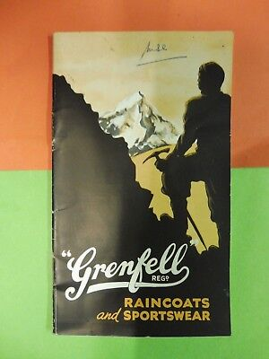 Grenfell Raincoats & Sportswear Burnley,pocket catalogue 1940's outdoor clothing