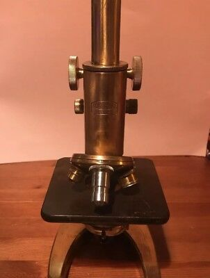 Antique Brass Microscope Carl Zeiss