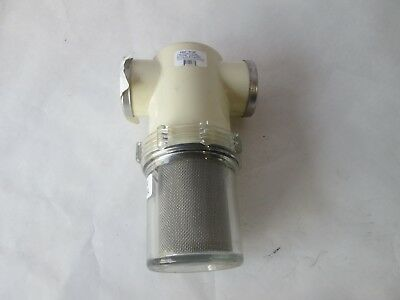"""US Jetting 1-1/2"""" Water Filter Full Assembly w/ Clear Bowl Mesh Filter J-064-600"""