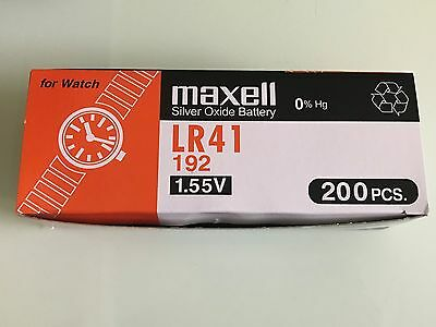 New 10 pcs Maxell LR41 192 Battery (FREE SHIPPING WORLDWIDE) EXP DATE:2021