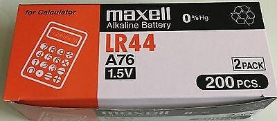 New 10pcs Maxell LR44 A76 Battery (FREE SHIPPING WORLDWIDE) EXP DATE:2021