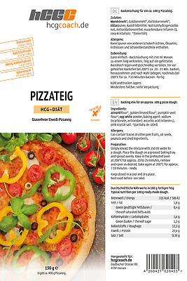 hCG Pizza, Low Carb Pizzateig (150 g)