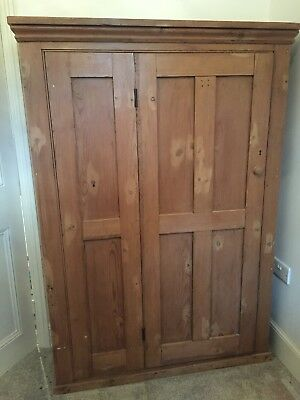 Large Victorian,  pine storage, hall cupboard,  fixed  shelves  - refurbished