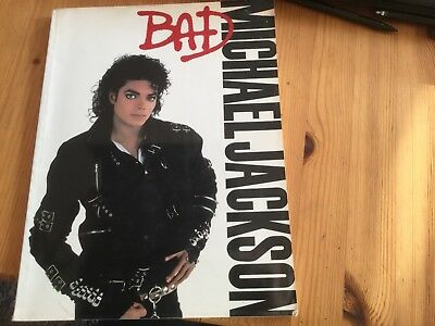 Michael Jackson Bad (Piano, Vocal,guitar Chords, Song ) Music Sheet Book . Rare