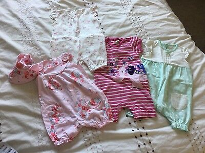 Baby Girl Summer Playsuit Bundle 0-3 Months