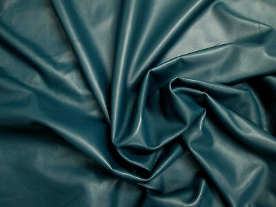 Lamb nappa leather 0.7mm Small pieces TEAL Beautifully soft Smooth BARKERS N248