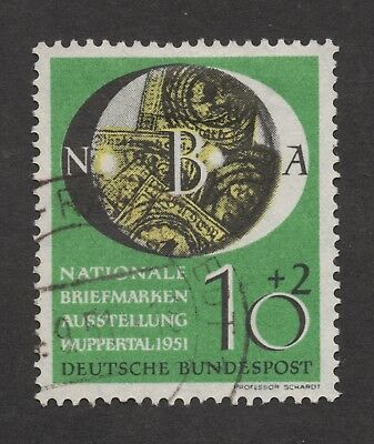 Germany # B318 (Wuppertal Stamp Exhibition, 1951) used ..  2018 Scott = $40.00