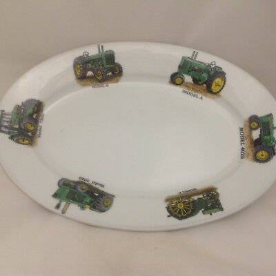 "John Deere   Chip Resisant 11""oval Plate 6 Different Tractors"