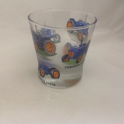 Fordson  With  6 Different  Tractor  On Large Heavey Base Whisky Tumbler Glass