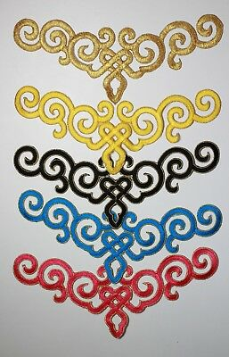 Embroidery Iron/Sew on patch applique motif  Irish dance costume #14 *5 Colours*