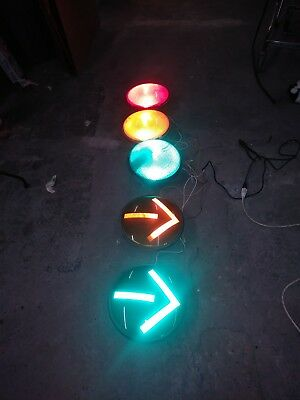 "12"" led traffic signal light modules - set of five"