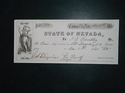 State of Nevada. Mar. 1, 1866. Carson City, Nev. J. S. Slingerland