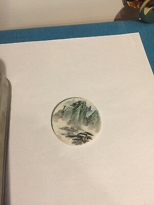 Chinese Plaque Paperweight Signed