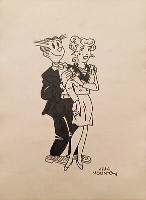 Blondie & Dagwood Chick Young Ink Drawing - Lot VII