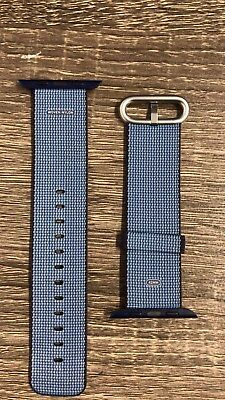 Apple Watch Woven Nylon Band (42mm, Navy/Tahoe Blue) MP232AM/A