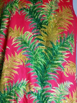 Striking Vintage French 60's Retro Fabric Remnant-FOUGERE-by Pascaline Yillon