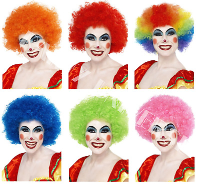 Deluxe Clown Disco 80s Hen Stag Night Curly Afro Wigs Wig Fancy Dress Accessory