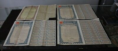 lot of 4 Bonds 1938 The 27th Year Gold Loan of The Republic of China 5$ 10$